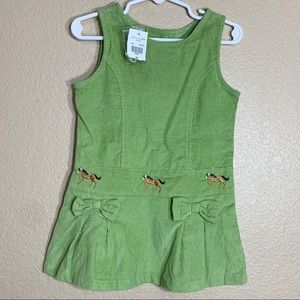 Cre8ions toddler girl green corduroy dress